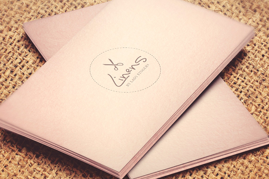 Identidade visual Linens By Lady Fingers