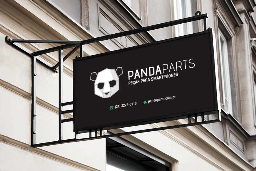 Identidade visual Panda Parts